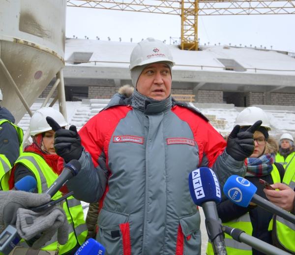 Реконструкция Центрального стадиона вЕкатеринбурге идет сопережением графика